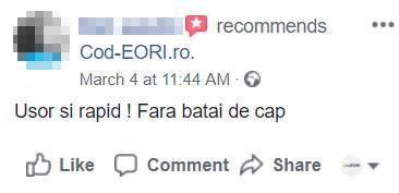 obtine cod eori online