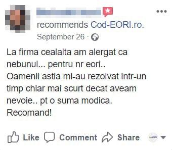 cod eori online